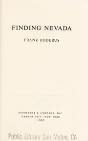 Cover of: Finding Nevada