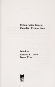 Cover of: Urban policy issues