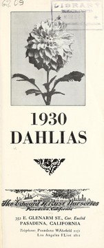 Cover of: 1930 dahlias | Edward H. Rust  (Firm)