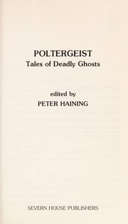 Cover of: Poltergeist: Tales of Deadly Ghosts