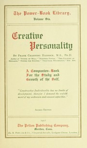 Cover of: Creative personality | Frank C. Haddock