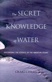 Cover of: The secret knowledge of water