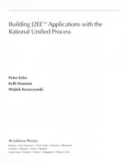 Cover of: Building J2EE applications with the rational unified process | Peter Eeles