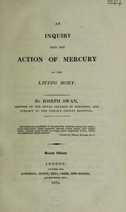 Cover of: An inquiry into the action of mercury on the living body