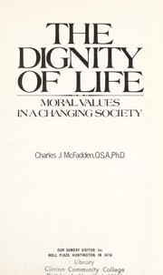 Cover of: The Dignity of Life