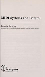 Cover of: MIDI systems and control | Francis Rumsey