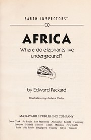 Cover of: Africa: Where Do Elephants Live Underground? (Earth Inspectors, No. 6)