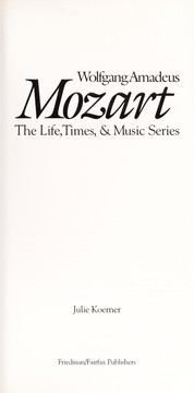 Cover of: Wolfgang Amadeus Mozart |