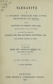 Cover of: Narrative of a journey through the upper provinces of India