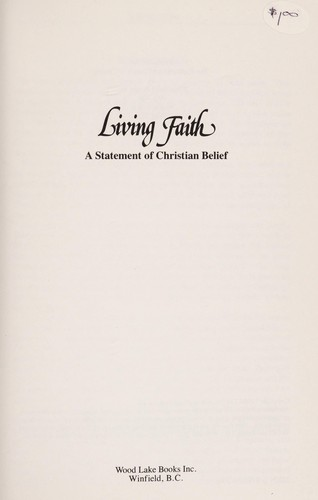 Living Faith by Wood Lake Books Staff