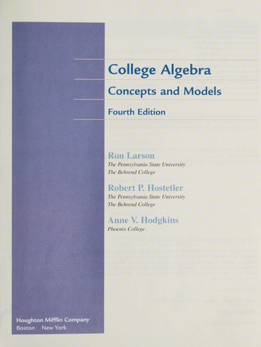 College algebra by Ron Larson