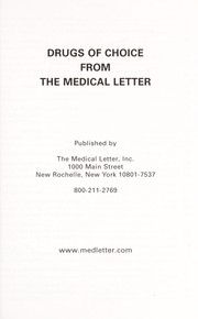 Cover of: Drugs of choice from the medical letter | Medical Letter, Inc