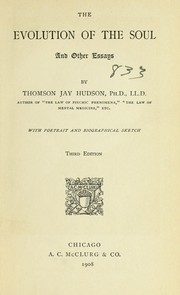 Cover of: The evolution of the soul | Thomson Jay Hudson