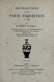 Cover of: Recollections of the Paris exhibition of 1867