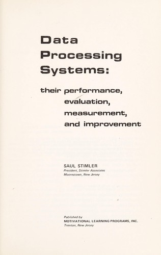 Data processing systems by Saul Stimler