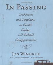 Cover of: In Passing | Jon Winokur