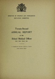 Cover of: [Report 1935] | Swinton and Pendlebury (England). Council