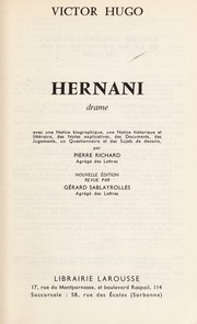 Cover of: Hernani | Victor Hugo