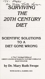 Cover of: Surviving the 20th Century Diet | Mary Ruth Swope
