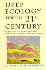 Cover of: Deep ecology for the twenty-first century by