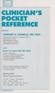 Clinician's Pocket Reference by Leonard G. Gomella