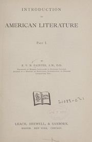Cover of: Introduction to American literature