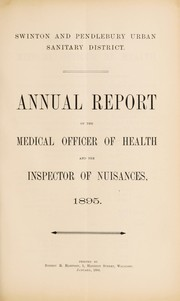 Cover of: [Report 1895] | Swinton and Pendlebury (England). Borough Council