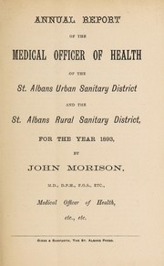 Cover of: [Report 1893] | St. Albans (England). Urban Sanitary District