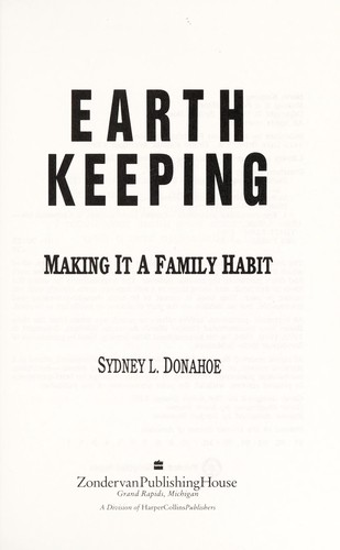 Earth Keeping by Sydney L. Donahoe