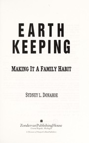 Cover of: Earth Keeping | Sydney L. Donahoe