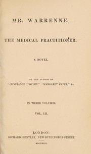 Cover of: Mr. Warrenne, the medical practitioner. A novel | Ellen Wallace