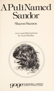 Cover of: A puli named Sandor | Sharon Siamon