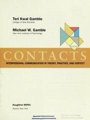 Cover of: Contacts | Teri Kwal Gamble