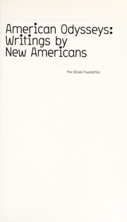 Cover of: American odysseys