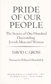 Cover of: Pride of our people | David C. Gross