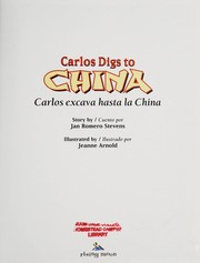 Cover of: Carlos digs to China | Jan Romero Stevens
