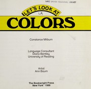 Cover of: Colors | Constance Milburn