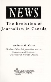 Cover of: News | Andrew M. Osler