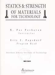 Cover of: Statics & strength of materials for technology | N. Pas Paskaran