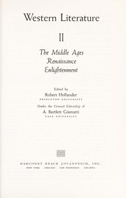 Cover of: Western Literature the Middle Ages, Renaissance Enlightenment | A. Bartlett Giamatti