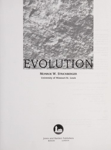 Evolution by Monroe W. Strickberger