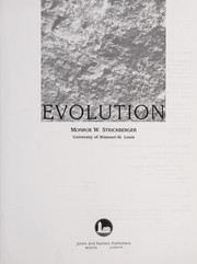 Cover of: Evolution | Monroe W. Strickberger