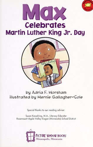 Max celebrates Martin Luther King Jr. Day by Adria F. Worsham