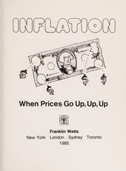 Cover of: Inflation | David A. Adler