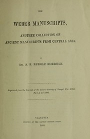 Cover of: The Weber manuscripts