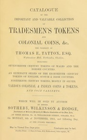Cover of: Catalogue of the important and valuable collection of tradesmen