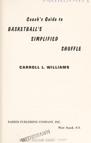 Cover of: Coach's guide to basketball's simplified shuffle