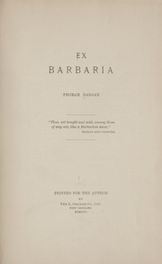 Cover of: Ex barbaria | Pegram Dargan