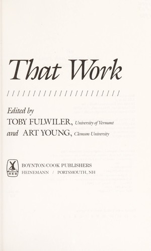 Programs that work by edited by Toby Fulwiler and Art Young.