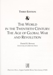 Cover of: The World in the Twentieth Century | Daniel R. Brower